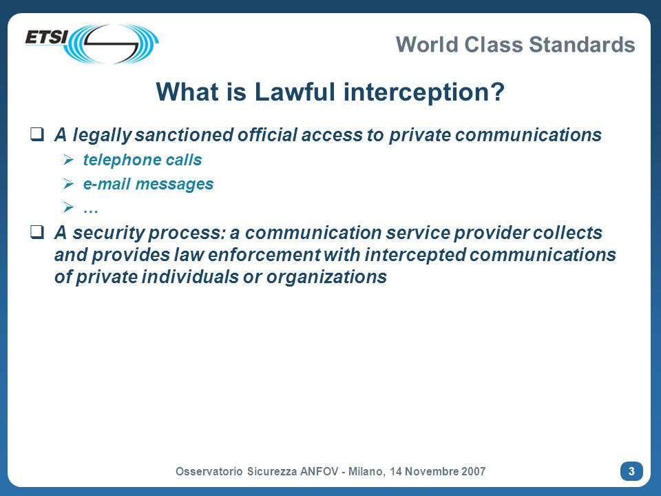 What is Lawful interception
