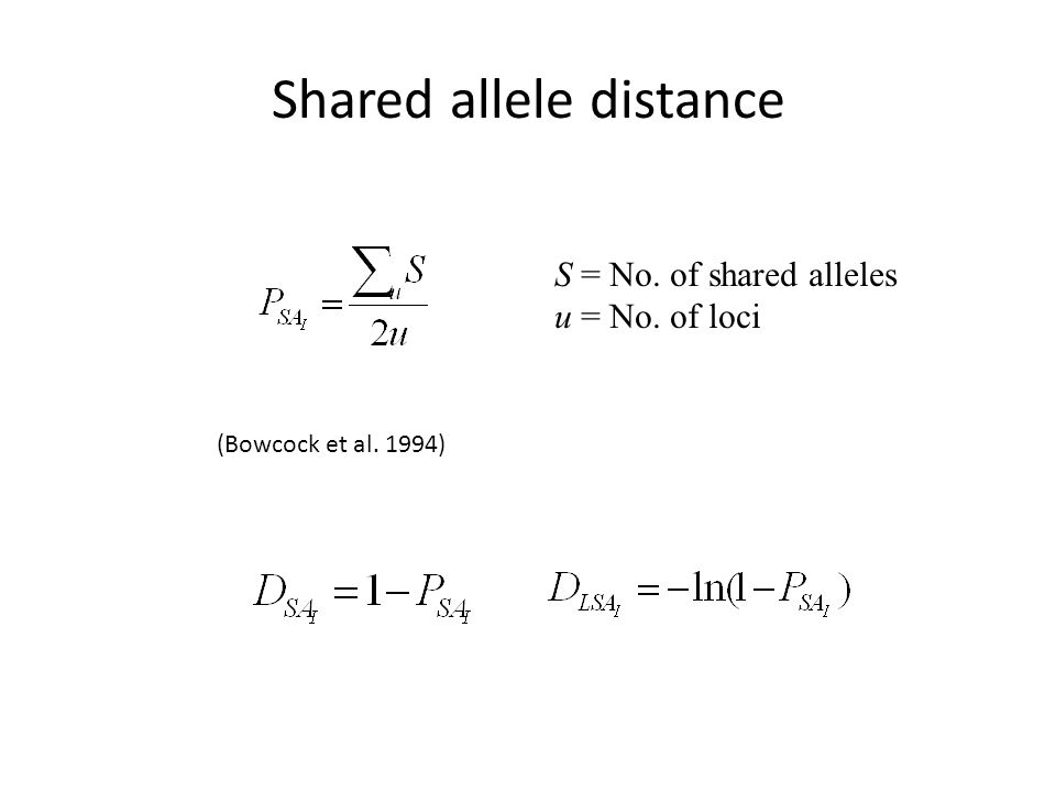 Shared allele distance