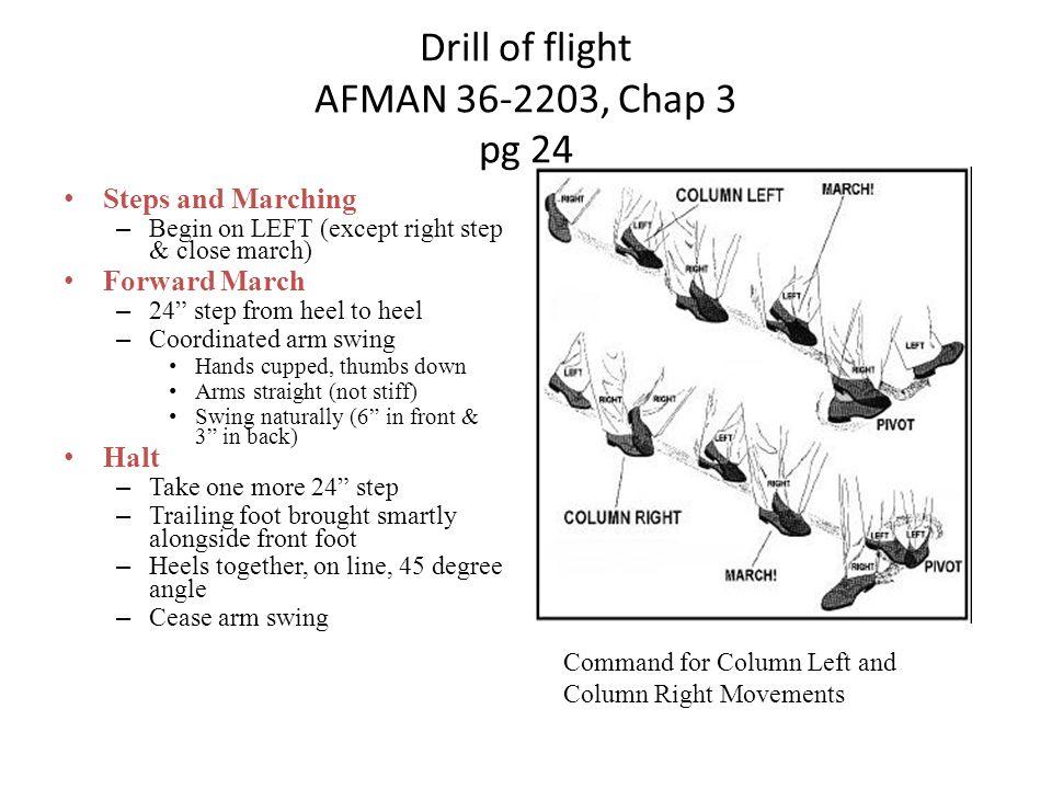 Drill of flight AFMAN 36-2203, Chap 3 pg 24