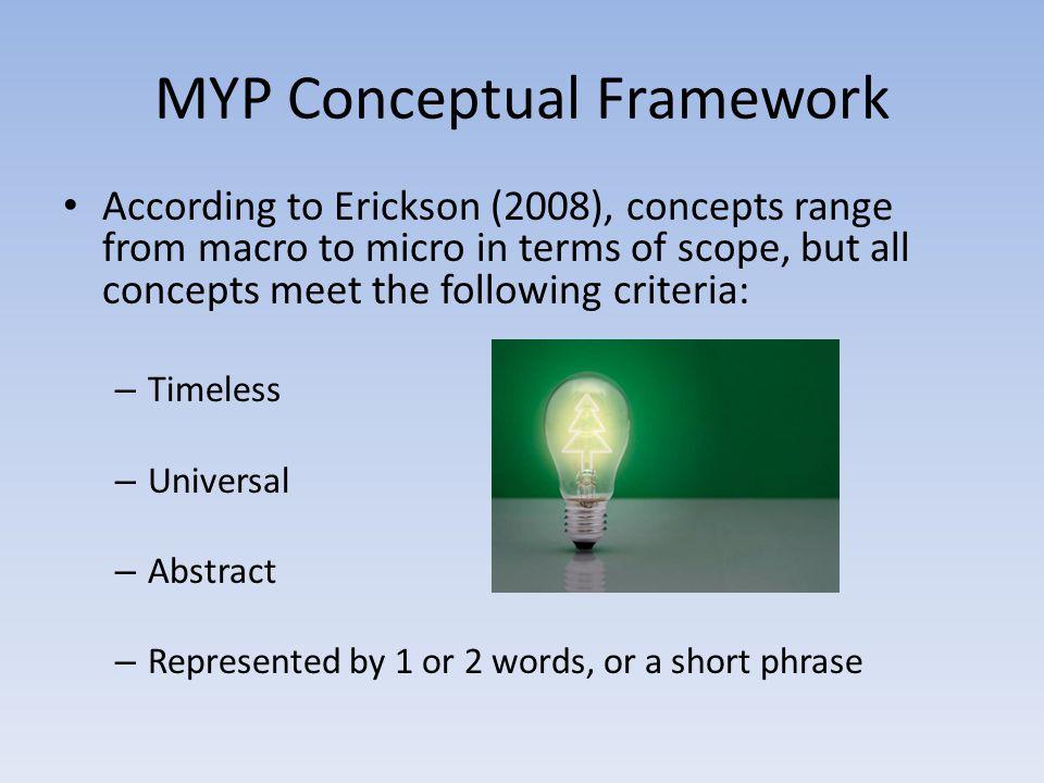 MYP Conceptual Framework