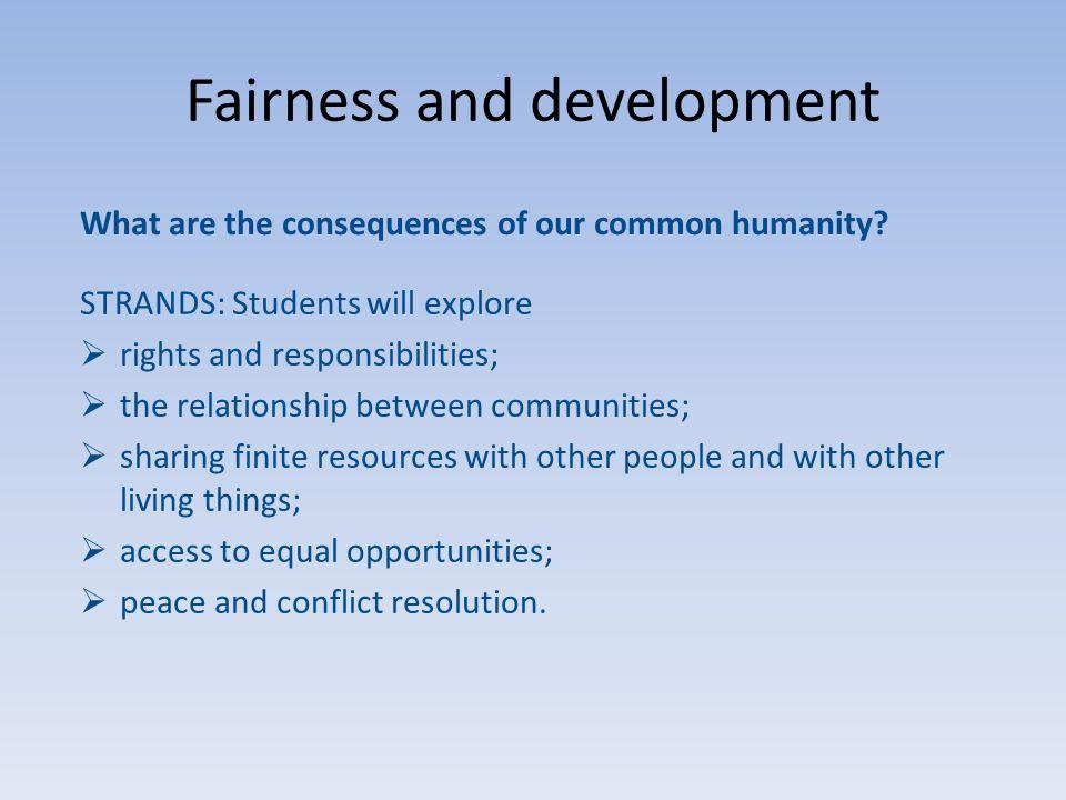 Fairness and development