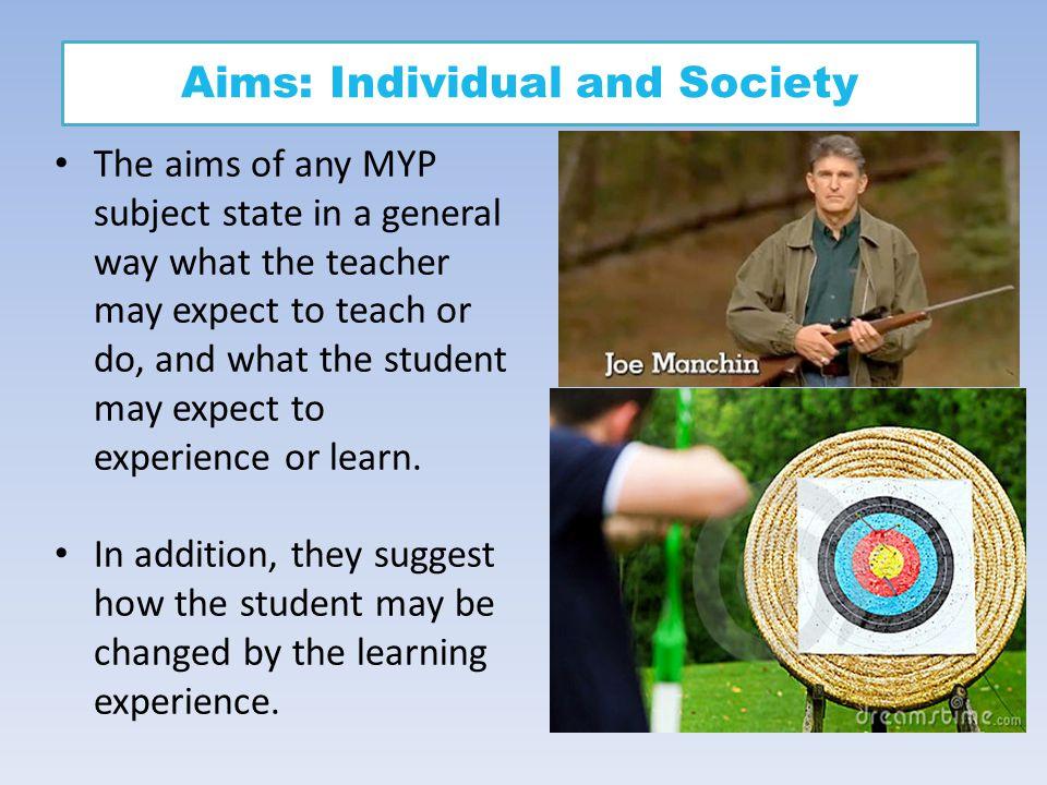 Aims: Individual and Society