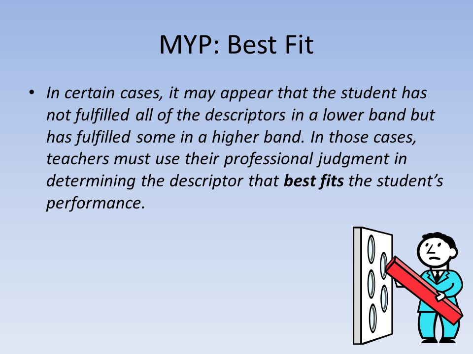 MYP: Best Fit