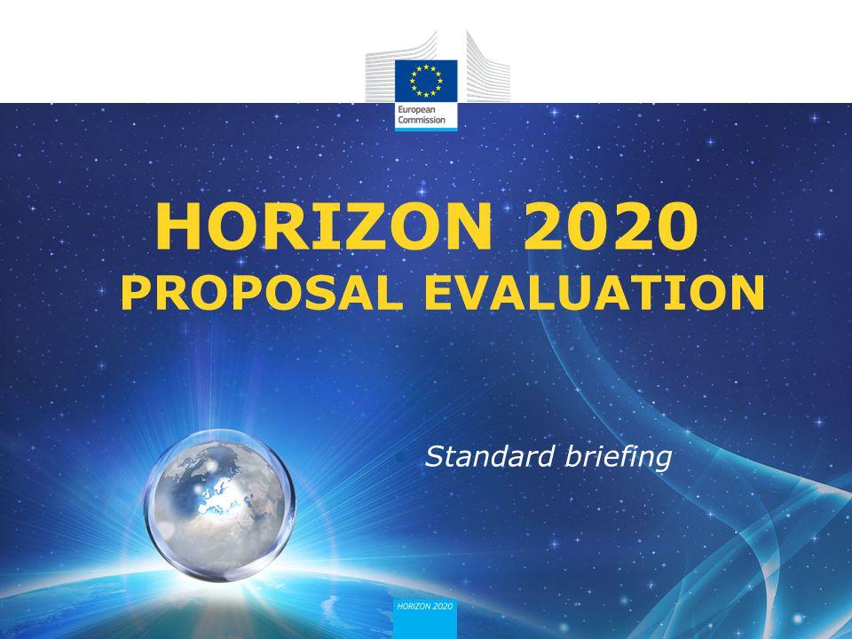 HORIZON 2020 PROPOSAL EVALUATION