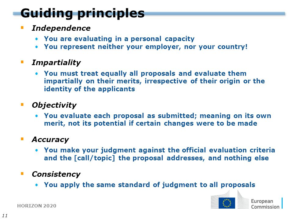 Guiding principles Independence Impartiality Objectivity Accuracy