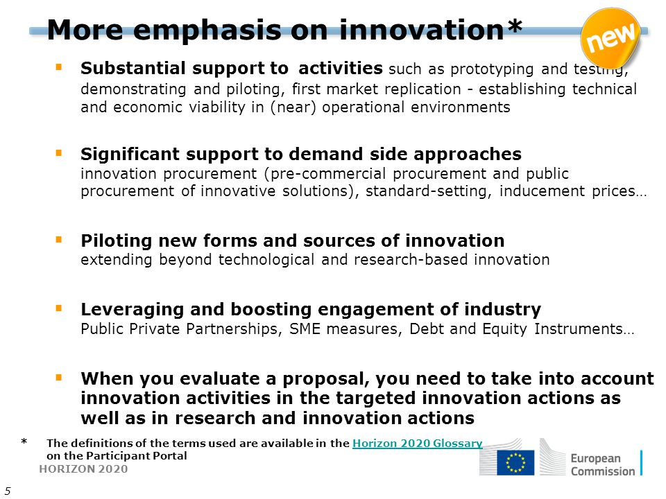 More emphasis on innovation*