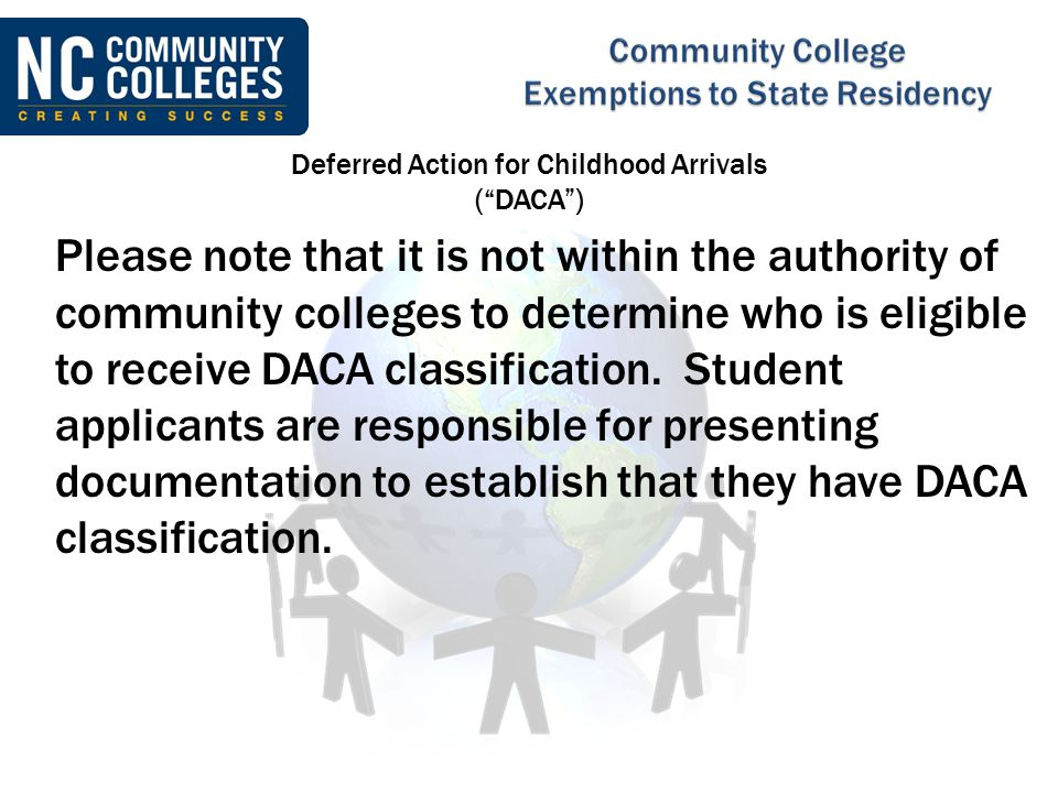 Deferred Action for Childhood Arrivals ( DACA )