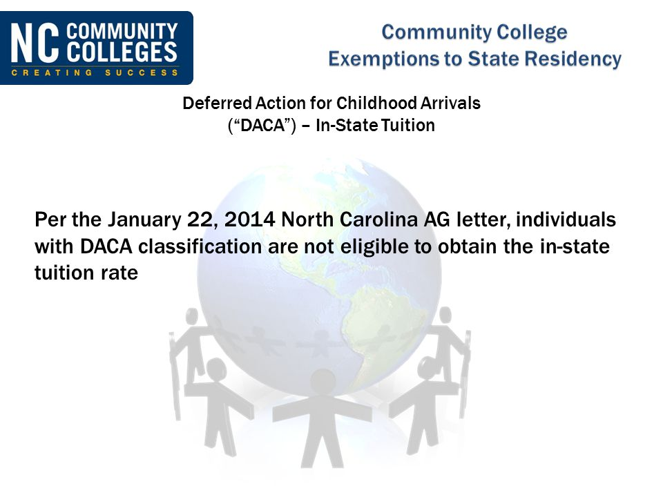 Deferred Action for Childhood Arrivals ( DACA ) – In-State Tuition