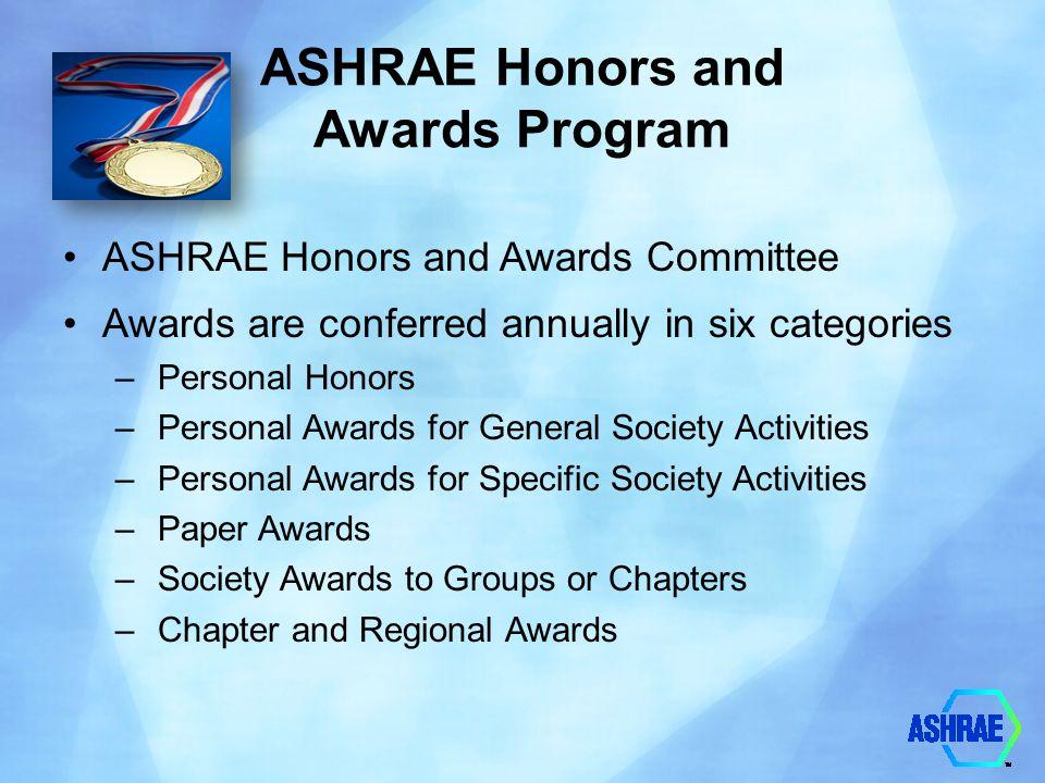ASHRAE Honors and Awards Program