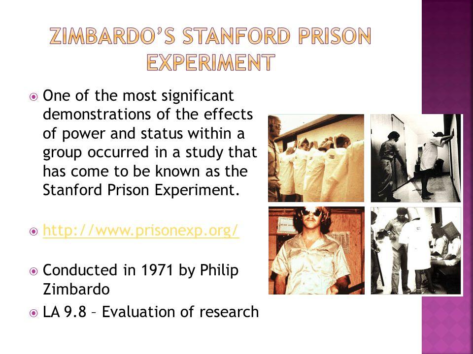 Zimbardo's Stanford Prison Experiment