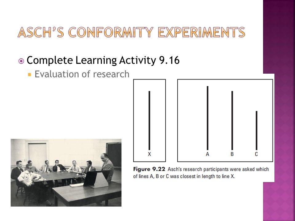 Asch's conformity experiments