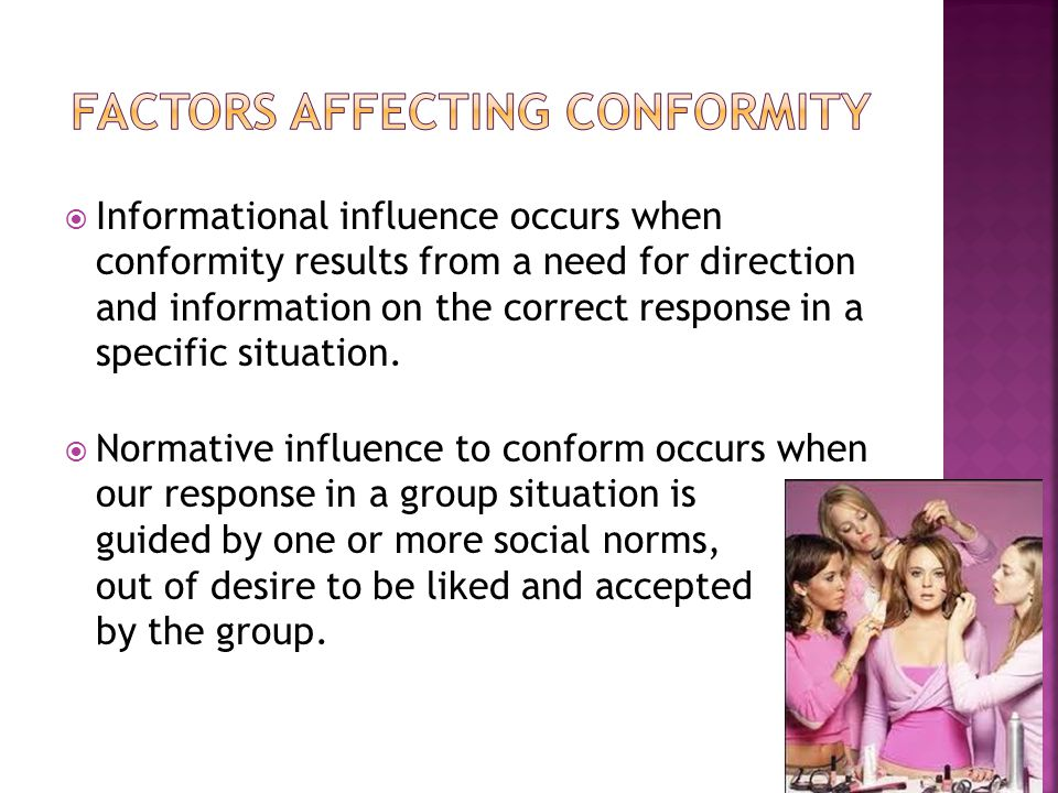Study on the factors that influence conformity