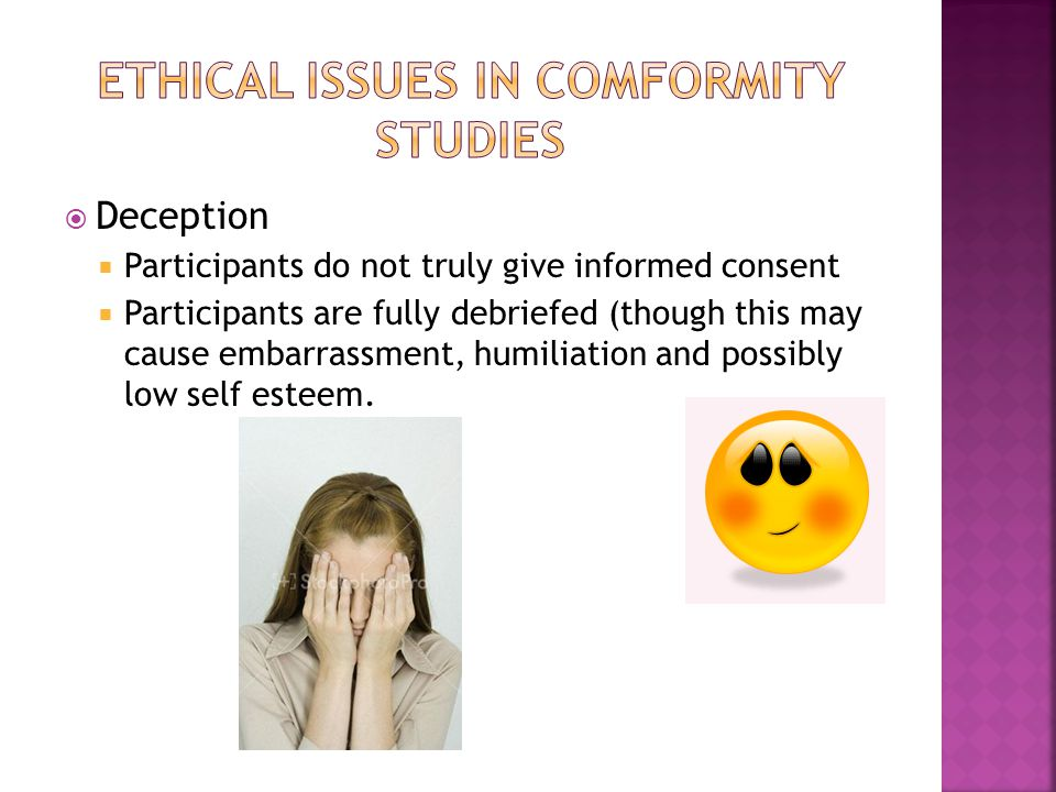 Ethical issues in comformity studies