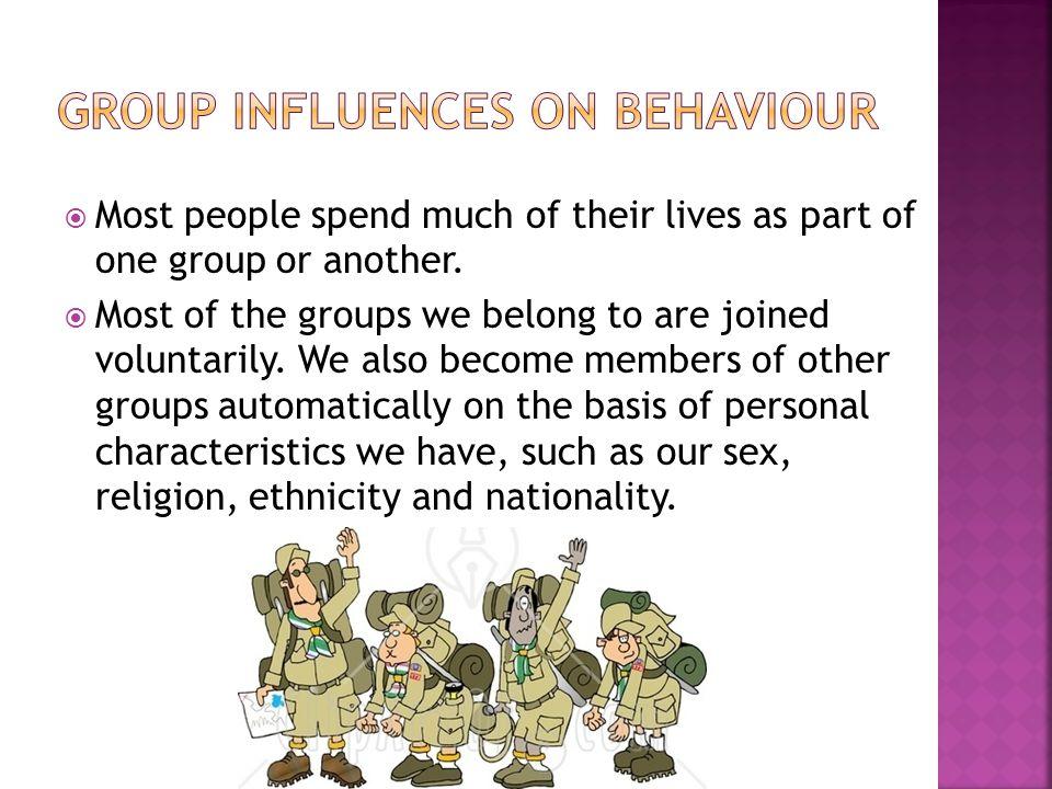 Group influences on behaviour