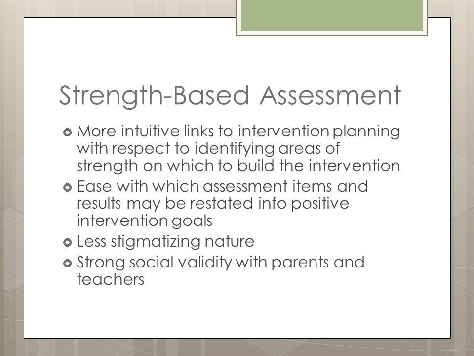 Strength-Based Assessment