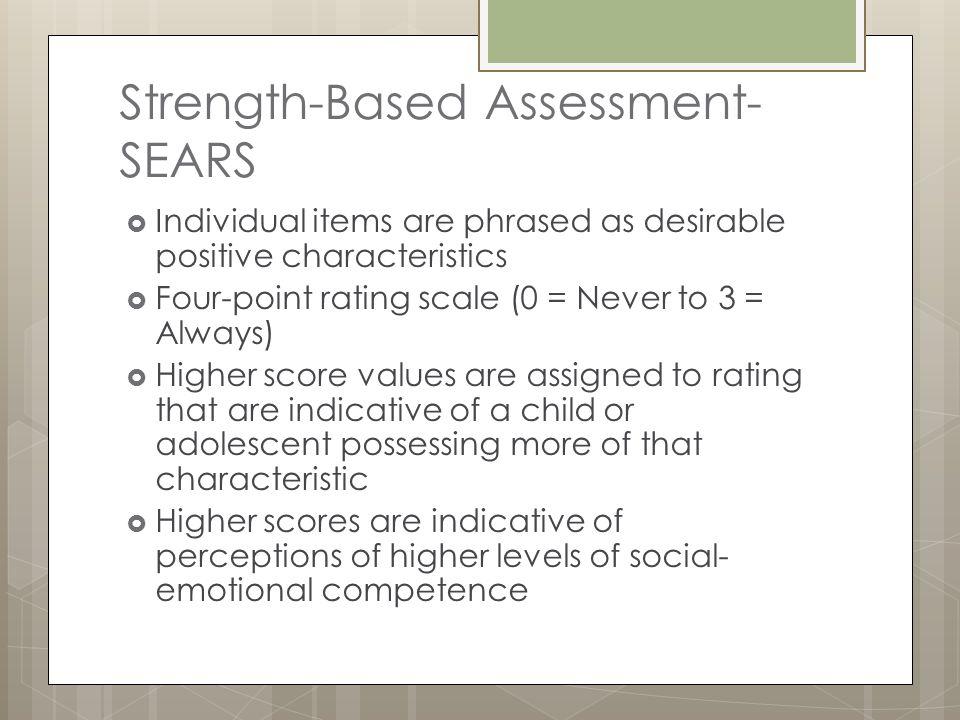 Strength-Based Assessment-SEARS