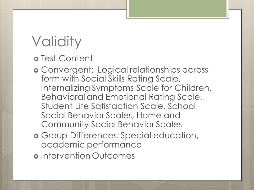 Validity Test Content.
