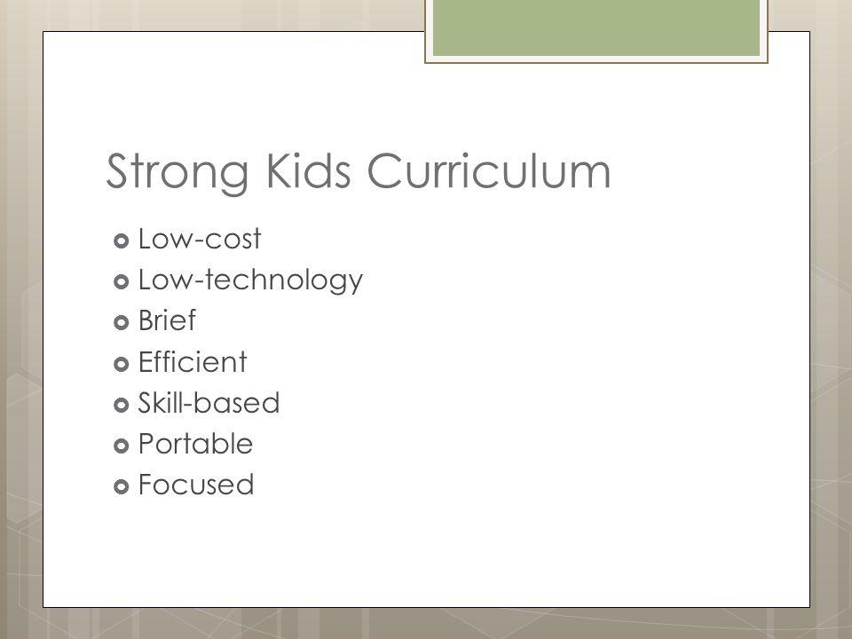 Strong Kids Curriculum