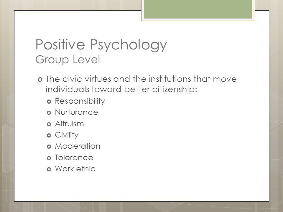 Positive Psychology Group Level