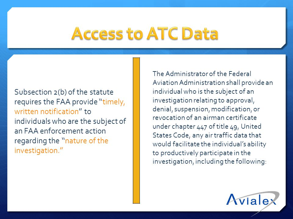 Access to ATC Data