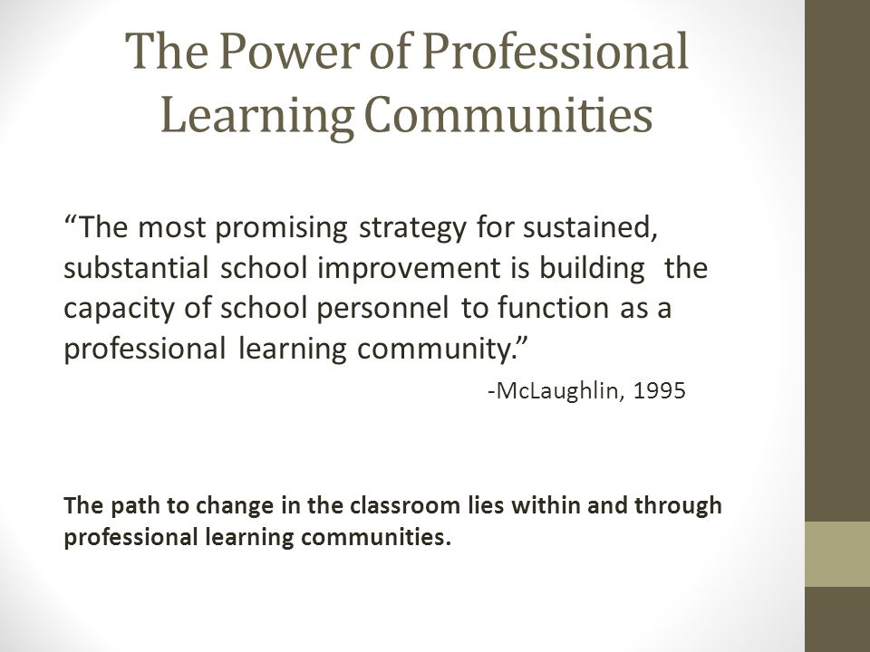 The Power of Professional Learning Communities