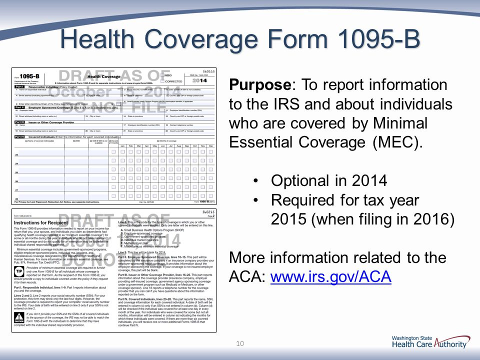 Health Coverage Form 1095-B