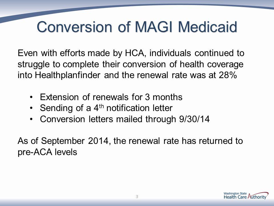 Conversion of MAGI Medicaid
