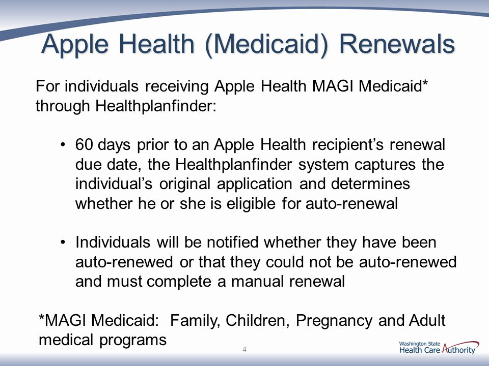 Apple Health (Medicaid) Renewals