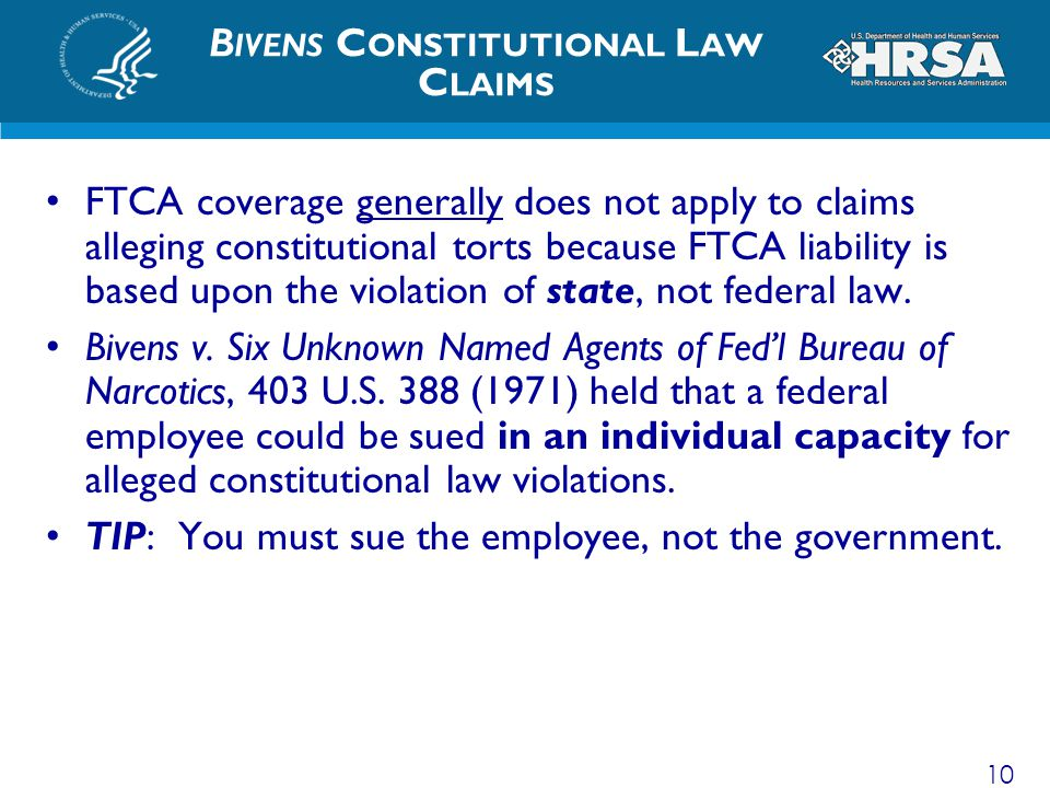 Bivens Constitutional Law Claims