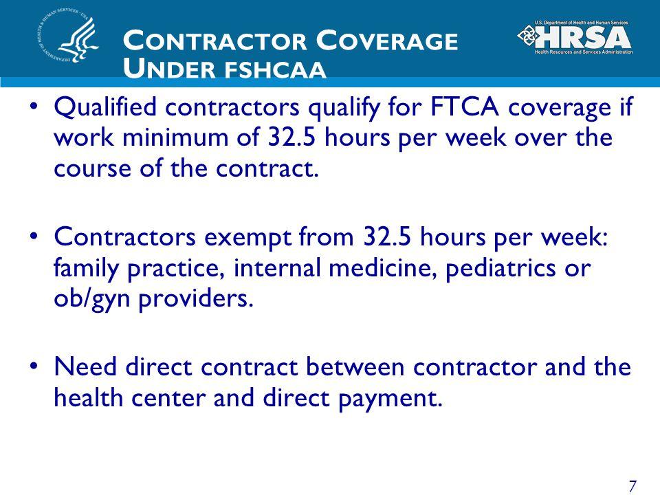 Contractor Coverage Under fshcaa