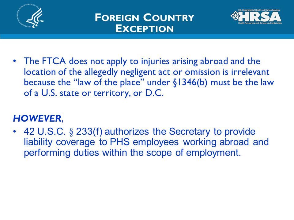 Foreign Country Exception