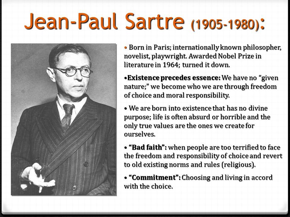 Jean-Paul Sartre (1905-1980):