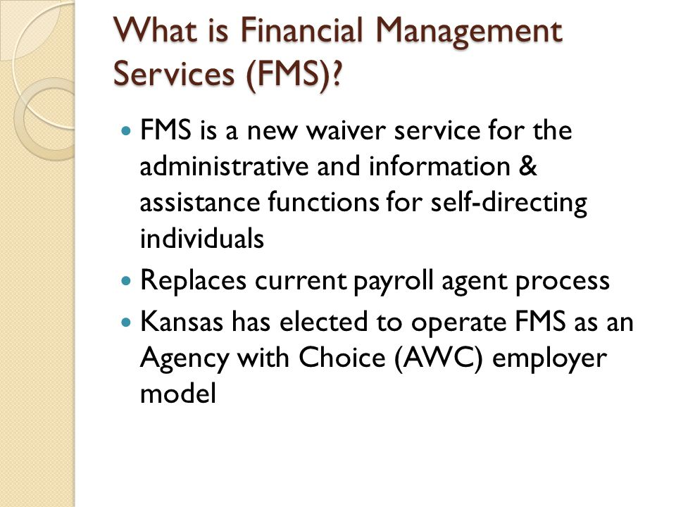What is Financial Management Services (FMS)
