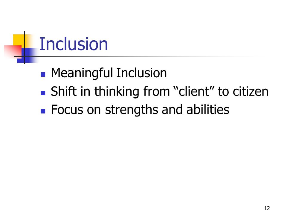 Inclusion Meaningful Inclusion
