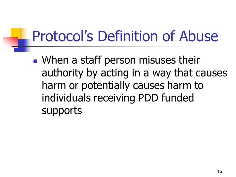 Protocol's Definition of Abuse