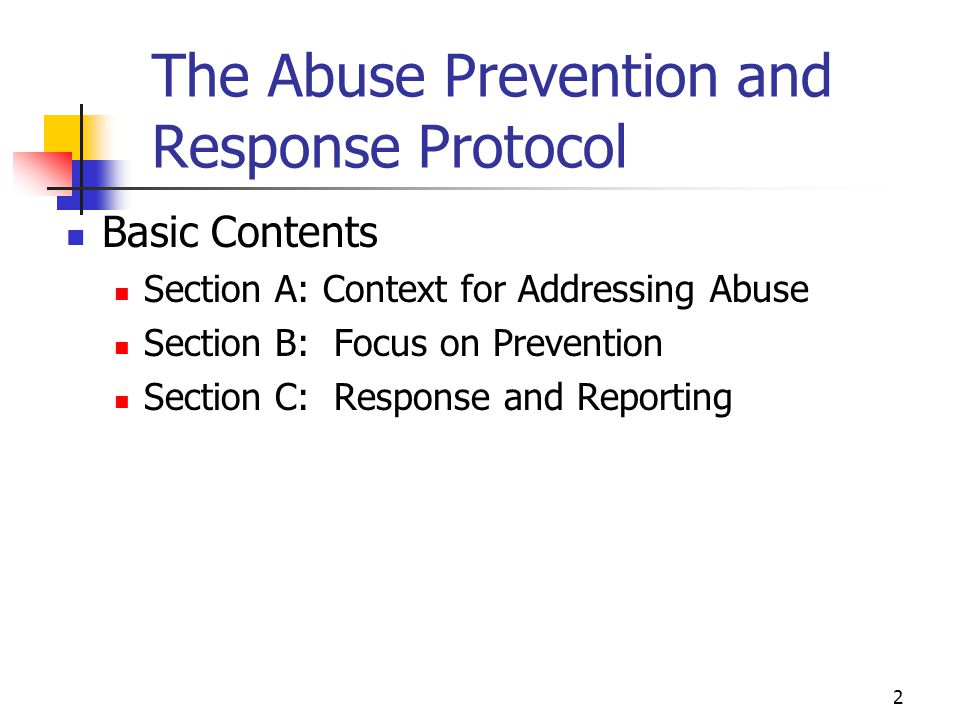 The Abuse Prevention and Response Protocol