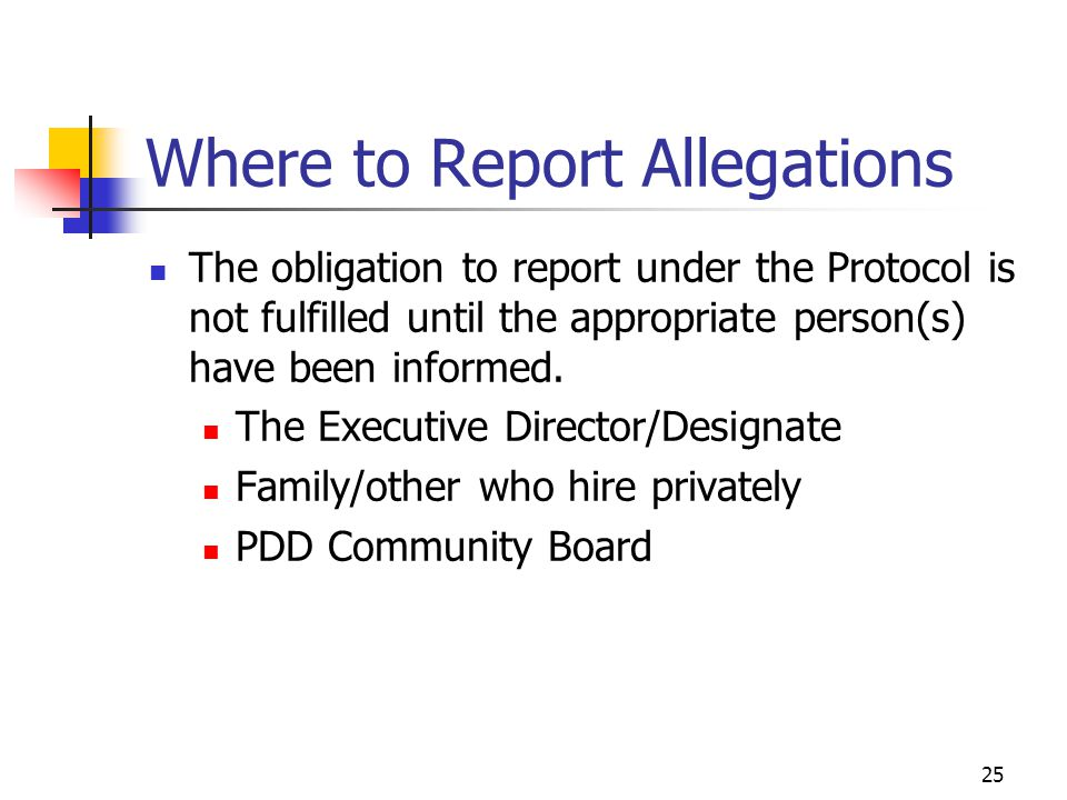 Where to Report Allegations