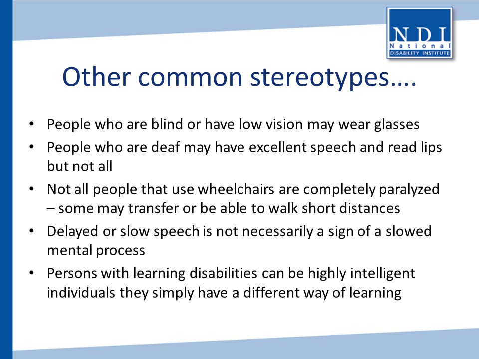 Other common stereotypes….