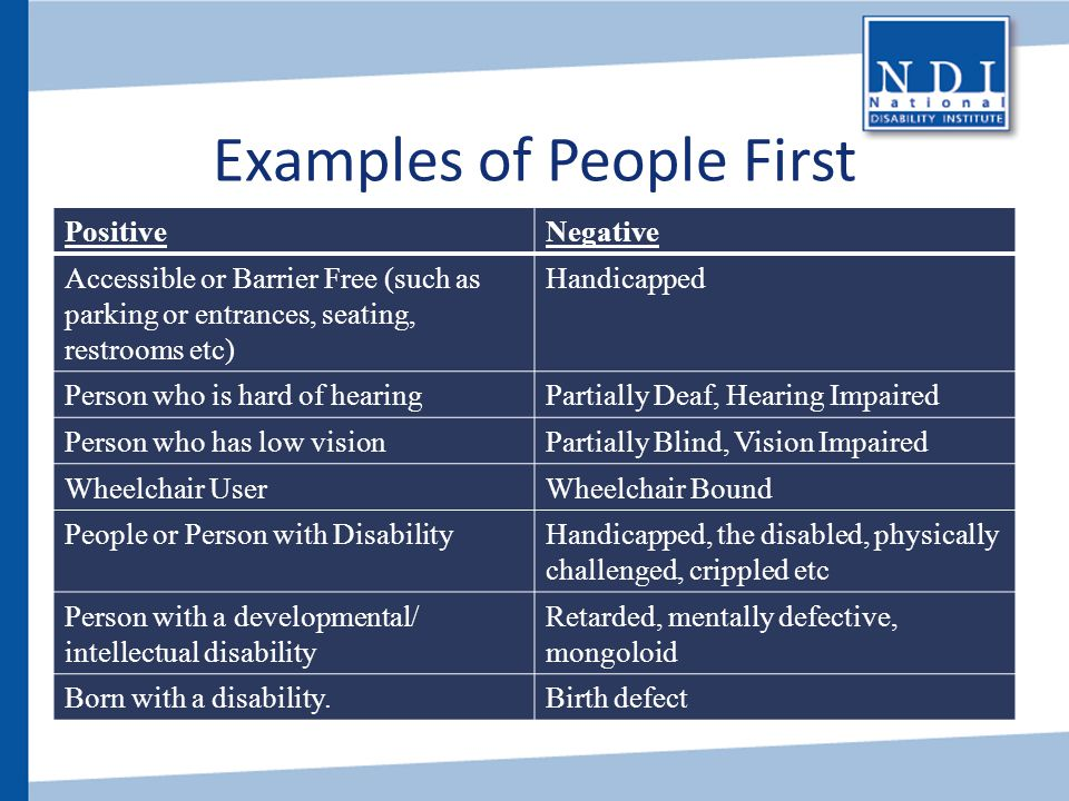 Examples of People First