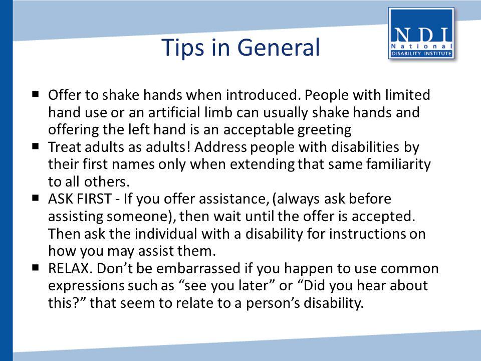 Tips in General