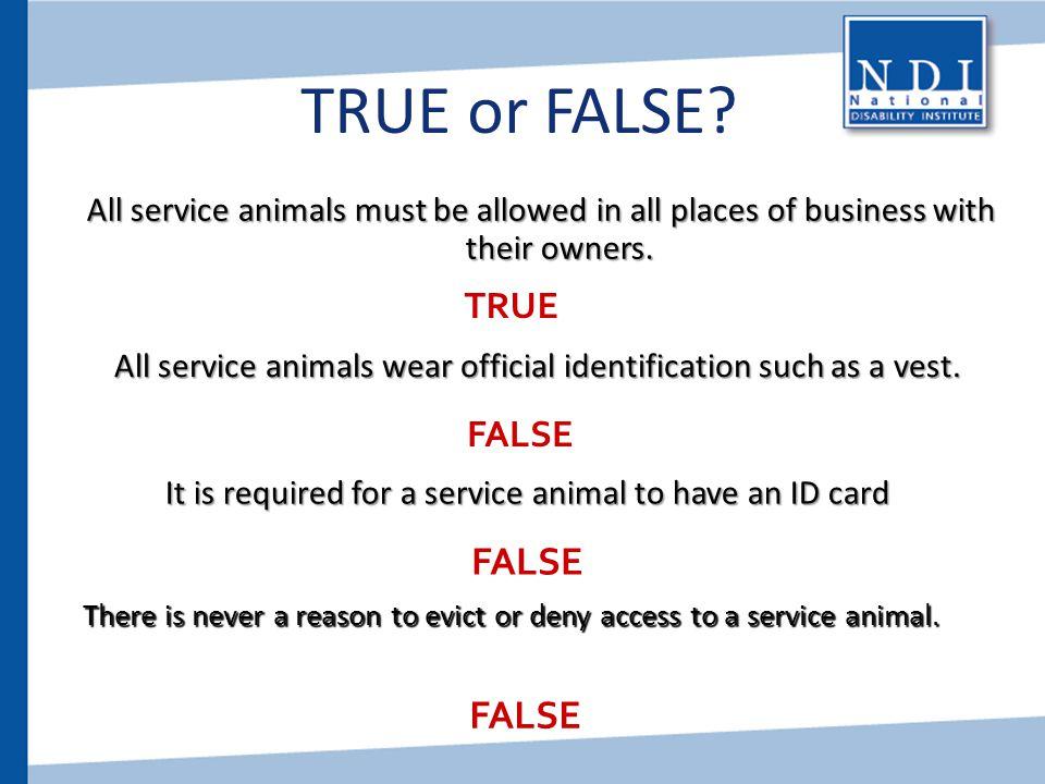 TRUE or FALSE FALSE FALSE TRUE FALSE
