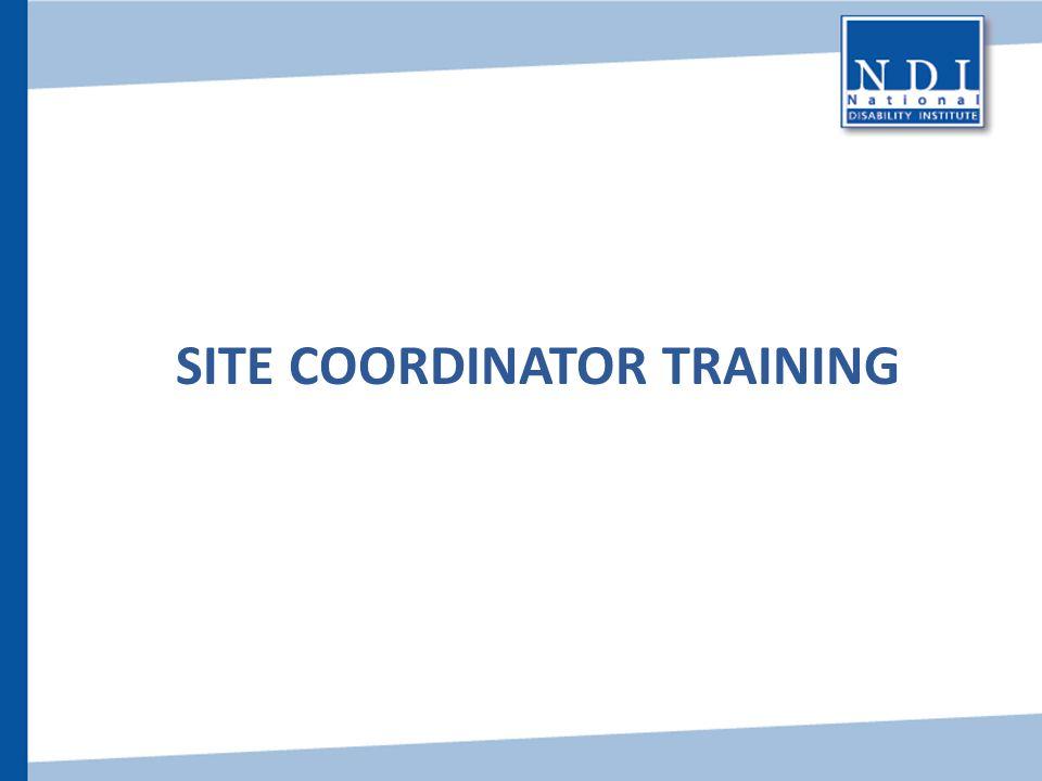 Site Coordinator Training