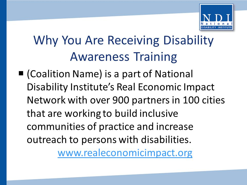 Why You Are Receiving Disability Awareness Training
