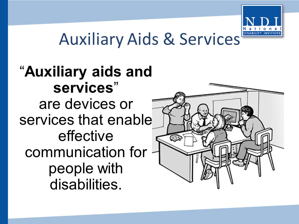 Auxiliary Aids & Services