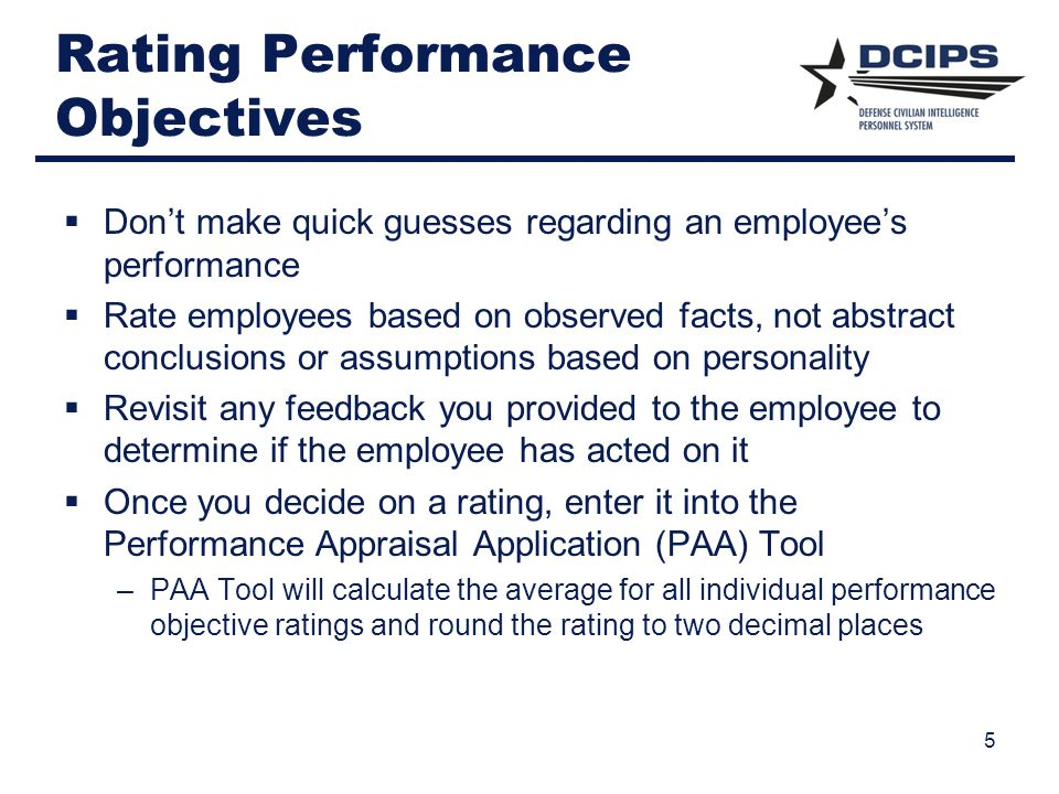 Rating Performance Objectives