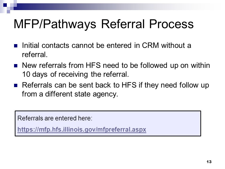MFP/Pathways Referral Process