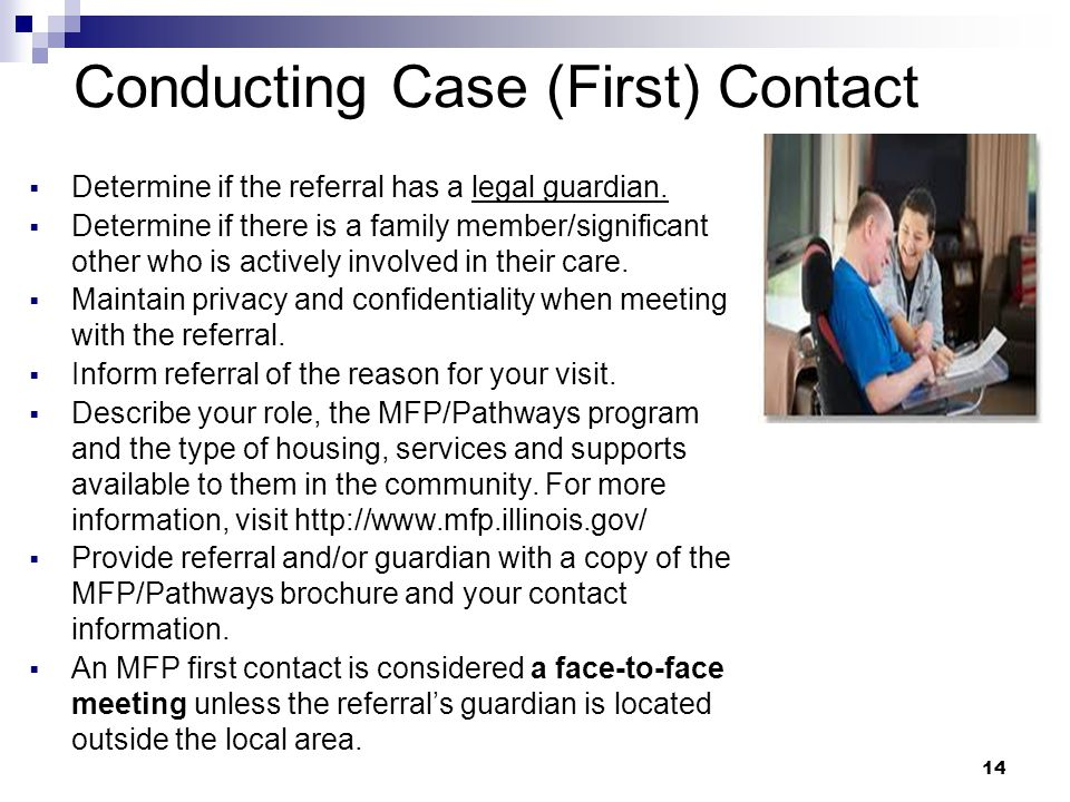 Conducting Case (First) Contact