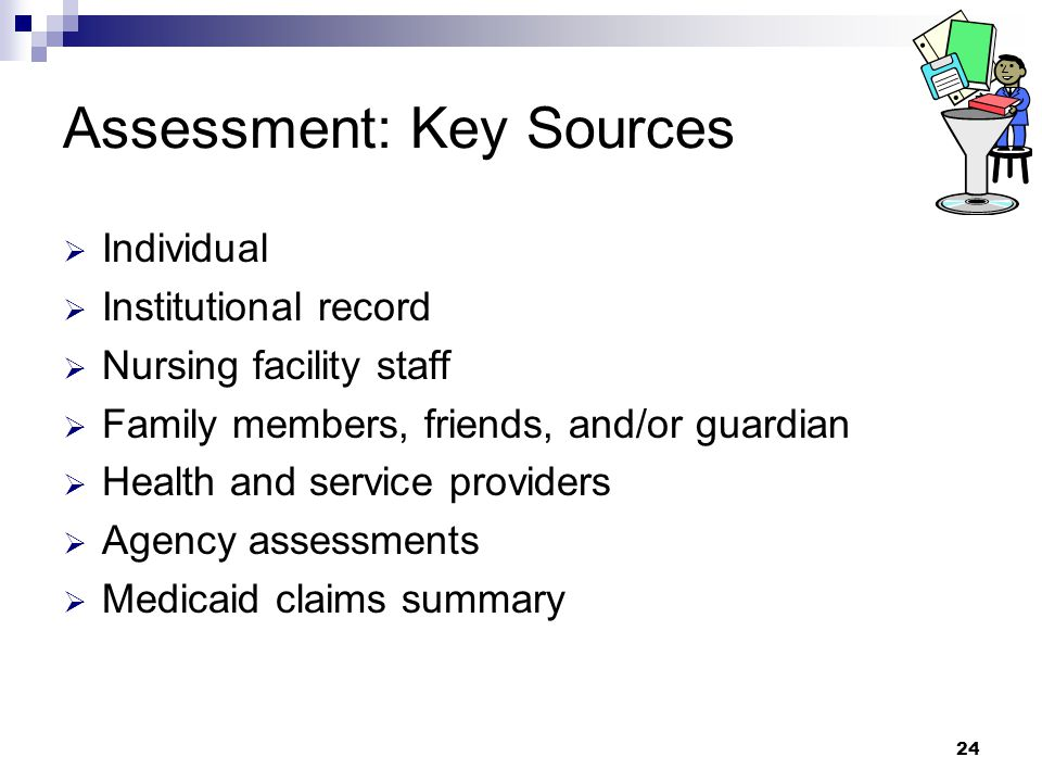 Assessment: Key Sources