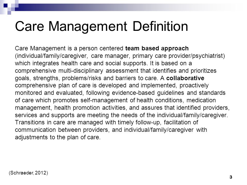 Care Management Definition