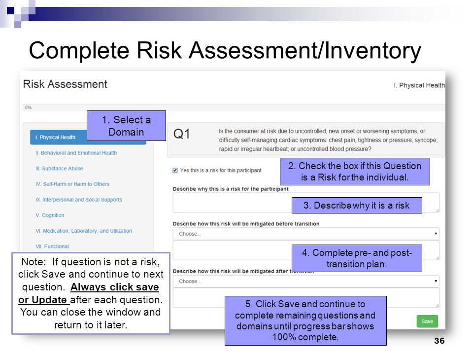 Complete Risk Assessment/Inventory